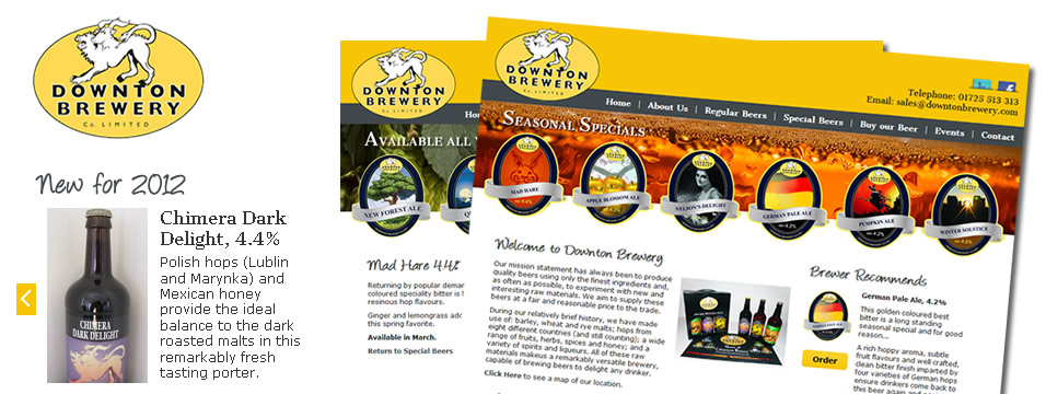 Brewery Web Site Development
